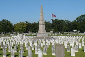 Confederate graves at Magnolia Cemetery in Mobile, Alabama.