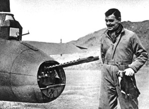 Clark Gable with the 8th Air Force in England in 1943.