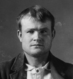 Butch Cassidy's 1894 Utah prison mugshot.