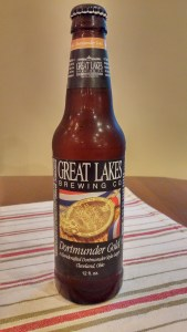 Here's a good lager beer made in Ohio: The Great Lakes Brewing Company's Dortmunder Gold. The company is based in Cleveland.