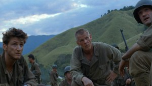 Nick Nolte in Terence Malick's 1998 version of The Thin Red Line. Nolte was just one of many well-known stars to appear in the film.