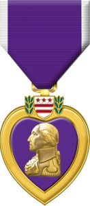 James Jones received the Purple Heart during World War Two for wounds from mortar fire on Guadalcanal.