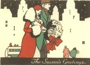 1920s Christmas card (image credit: ephemeralnewyork.wordpress.com)