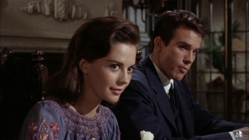 "Natalie Wood and Warren Beatty in ""Splendor In The Grass."""
