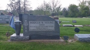Rodger Young's grave in McPherson Cemetery in Clyde, Ohio (author's photo).