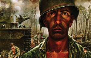 "One of the most famous works of World War II combat art: Tom Lea's ""They Call It The 2,000 Yard Stare"" (Photo credit:"