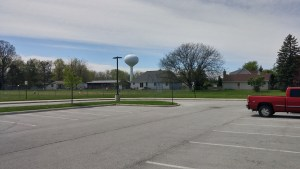 The old Clyde fairgrounds and racetrack once occupied the stretch of land now home to an elementary school in Clyde, Ohio.