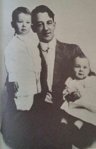 """Family Man: Sherwood Anderson in the early 1900s with his son John (left) and daughter Marion. Photo from """"Sherwood Anderson's Memoirs"""" edited by Ray Lewis White; original in the Newberry Library."""