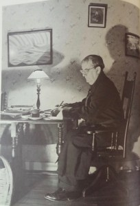 Sherwood Anderson in his later years at his home in Virginia. If you click on this photo and enlarge it, you can see the photo of Emma Anderson featured earlier in this post. The picture is on the wall to the right of Anderson.