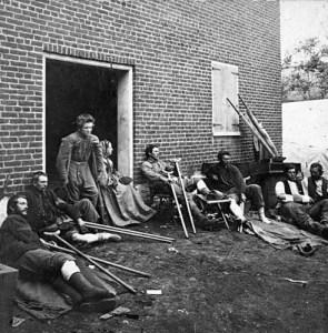 Hospital at Fredricksburg, Virginia in May, 1864.