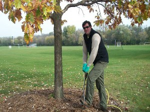 Chris Mader PHC Supervisor Mequon Fertilizing Root Stimulants Photo