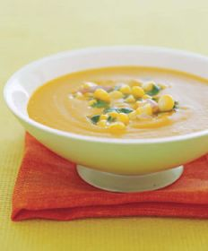 Squash, Corn & Coconut Soup, courtesy www.epicurious.com