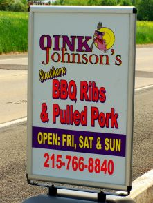 Oink Johnson's BBQ; photo by L. Goldman