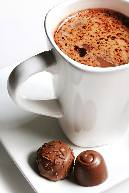 Hot chocolate and truffles; photo courtesy of The Chocolate Bar