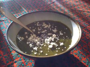 Green soup; photo by E. Villarroel