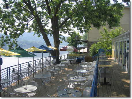 The patio at Martine's; photo courtesy of Martine's River House