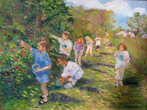 Blackberry Picking at Snipes Farm
