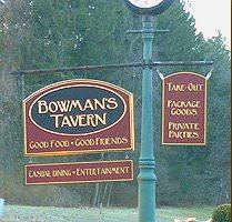 Bowman's Tavern sign