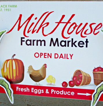Milk House Farm Market sign