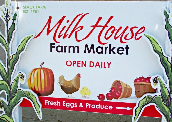 Milk House Farm Market sign