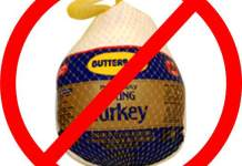 supermarket turkey, no frozen turkeys! fresh turkeys