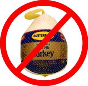 supermarket turkey, no frozen turkeys! fresh turkeys