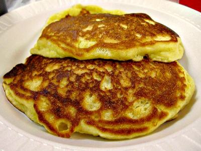 Cornbread pancakes at Hickory Kitchen_edit
