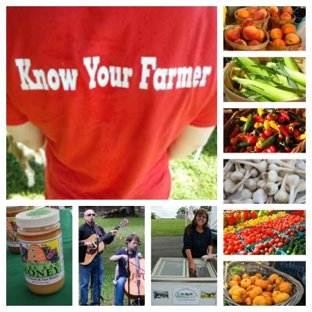 Bucks County Farmers Markets collage
