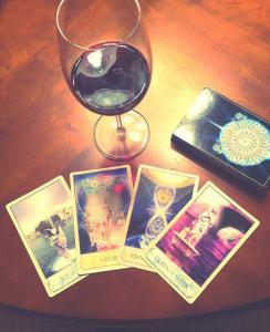 tarot and wine