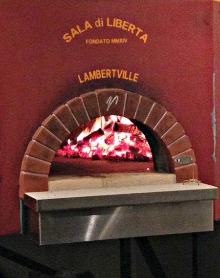 LIberty Hall pizza oven; photo L. Goldman