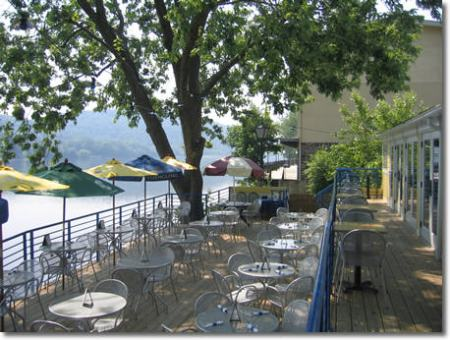 The patio at Martine's Riverhouse Restaurant and Bar