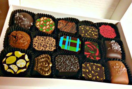 Box of Pierre's truffles; photo L Goldman