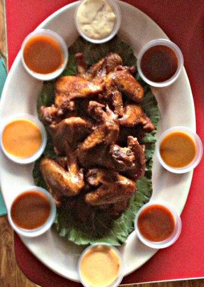 Wings from Hickory Kitchen; photo L. Goldman