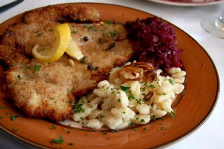 Schnitzel dinner from Driftless Appetite_Bucks County food events