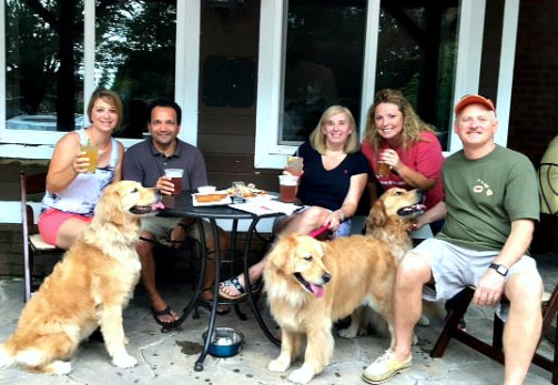 Doylestown Brewing Co golden retrievers; credit Patte Barry