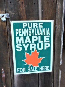 Pennsylvania Bucks County maple syrup