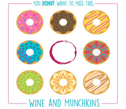 wine and munchkins at crossing vineyards and winery