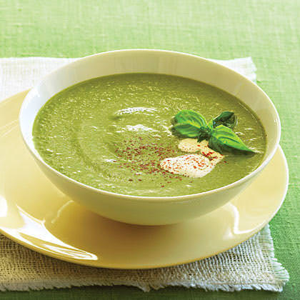 Recipes for the season: Zucchini and basil velouté