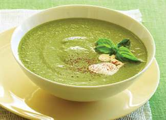 zucchini and basil veloute