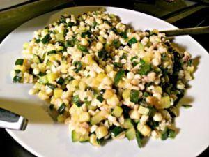 Corn and zucchini succotash