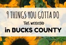 9 TYGD in Bucks this weekend
