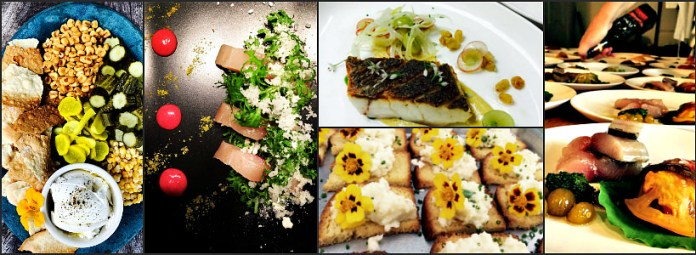 Dishes from Chefs Paul Mitchell & Alida Saxon; photos courtesy of Rosemont Supper Club