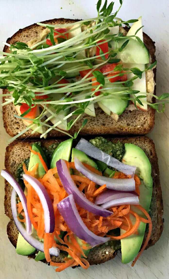 California Veggies Sandwich. Photo courtesy Clean Roots.
