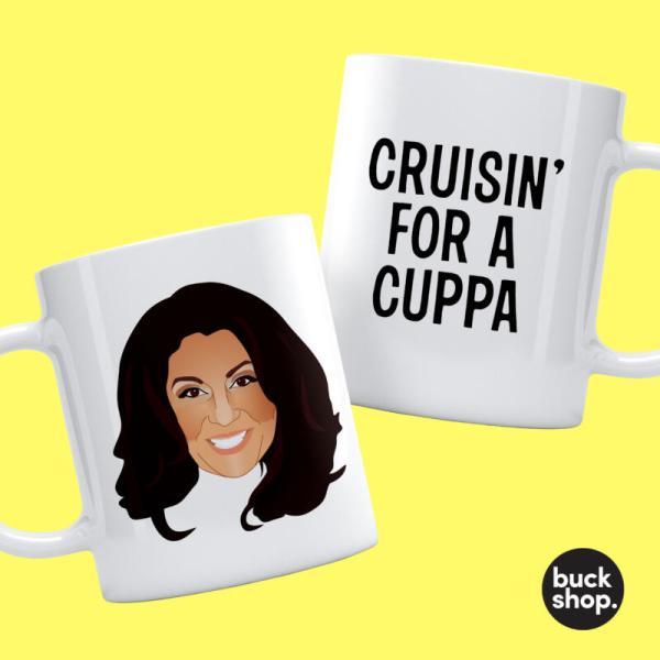 Jane McDonald - Personalised Mug - Cruisin For A Cuppa - Both