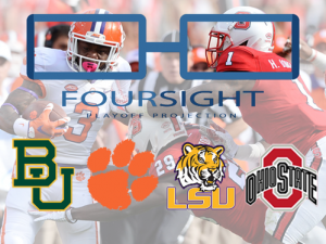 Clemson holds No. 2 in FourSight playoff projection