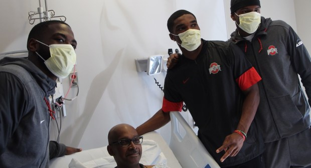 Ohio State Football Players Give and Receive Inspiration in Monday Trip to James Cancer Hospital