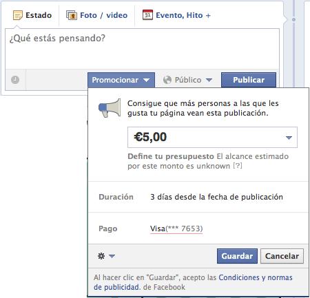 promociones en facebook