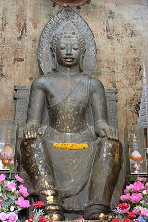 Thailand Buddhism Dvaravati art Buddha at Wat Na Phramen, Ayutthaya, Dvaravati Art
