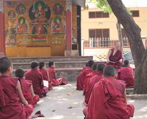 Monks at Gaden Shatse Monastery