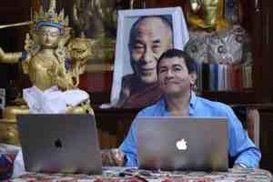 Juan Ruiz Naupari offering teachings on Atisha in Gaden Monastery0F5A0775